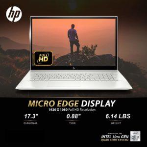 Newest HP Envy 17t Touch Intel i7-10510U, 1TB SSD, 16GB RAM Specs