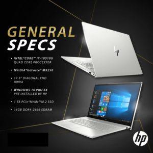 Newest HP Envy 17t Touch(10th Gen Intel i7-10510U, 1TB PCI NVMe SSD, 16GB DDR4