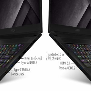 msi gs66 stealth gaming connectivity options