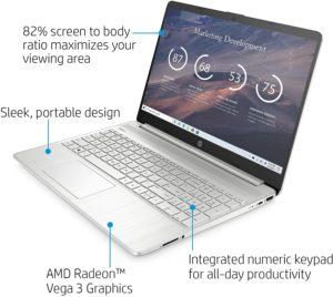 HP 15-ef0021nr, 15-inch HD Laptop Ryzen 3