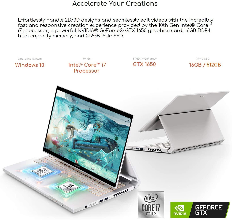 ConceptD 3 Ezel CC314-72G-72SX Convertible Laptop
