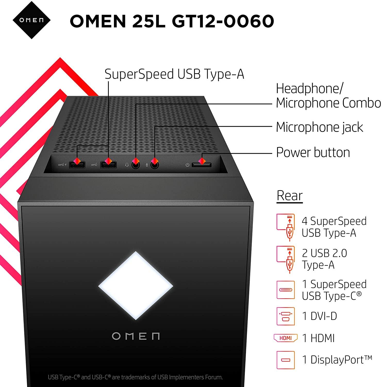 OMEN 25L Gaming Desktop PC GT12-0060