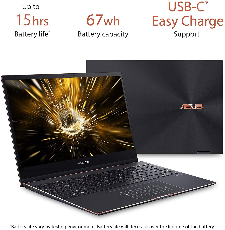 "ASUS ZenBook Flip S Ultra Slim Laptop, 13.3"" 4K UHD"